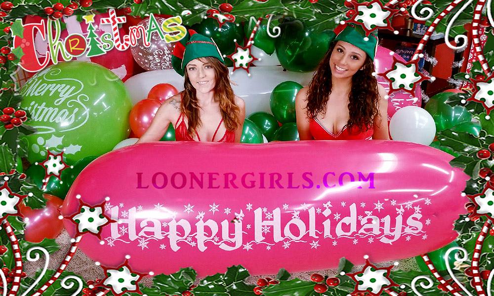 Christmas Balloons Julia & Madison